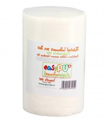 Veli Biodegradabili per Pannolini Lavabili - 100 Strappi