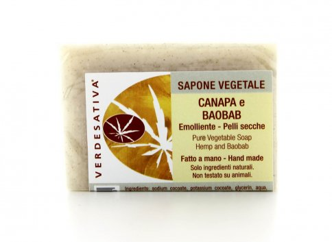 Sapone Vegetale Canapa e Baobab
