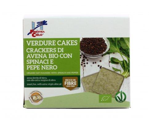 Crackers di Avena con Spinaci e Pepe Nero - Verdure Cakes