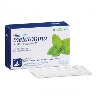 Vitacalm Melatonina Sublinguale - Integratore per il Sonno 120 Compresse (8,4 gr.)