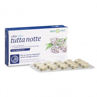 VitaCalm Tutta Notte - Integratore Sonno con Melatonina 30 Compresse (30 g)