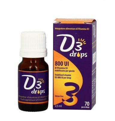 D3 Drops 800 UI - Integratore Vitamina D3