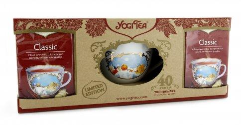 Confezione Yogi Tea Classic Bio con Tazza in Porcellana