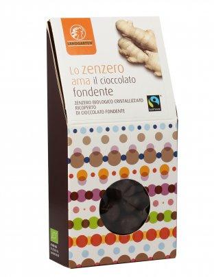 Zenzero Ricoperto di Cioccolato Fondente - 110 gr.