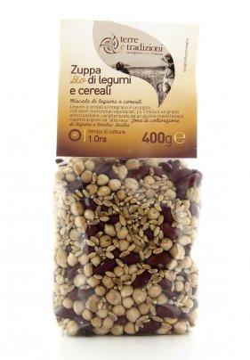 Zuppa Bio di Legumi e Cereali