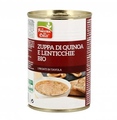 Zuppa di Quinoa e Lenticchie Bio