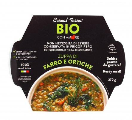 Zuppa di Farro e Ortiche Bio