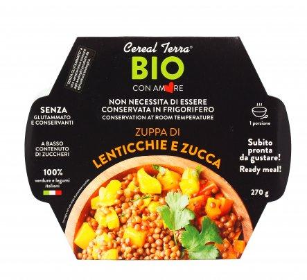 Zuppa di Lenticchie e Zucca Bio