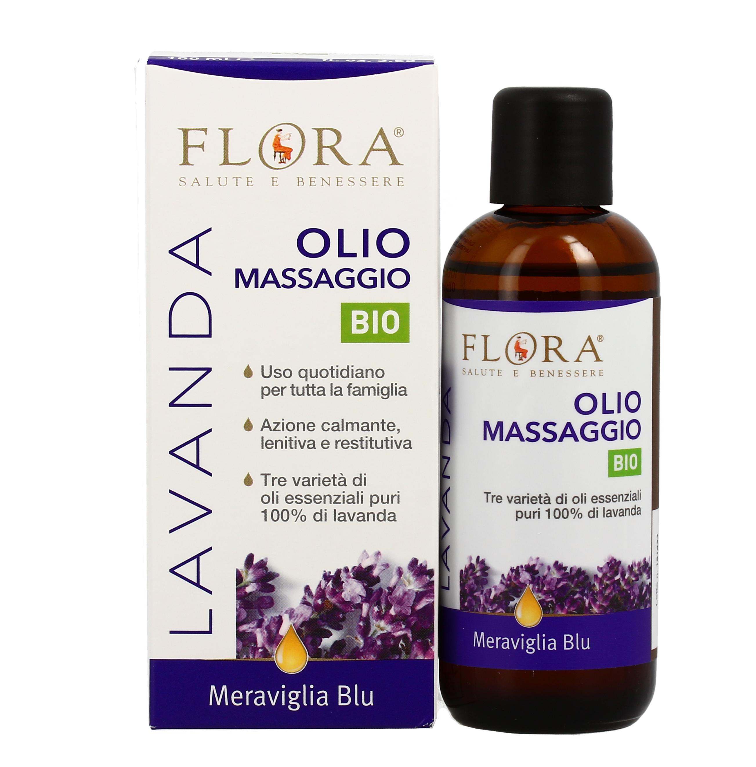 Olio Da Massaggio Per Il Corpo Meraviglia Blu Flora
