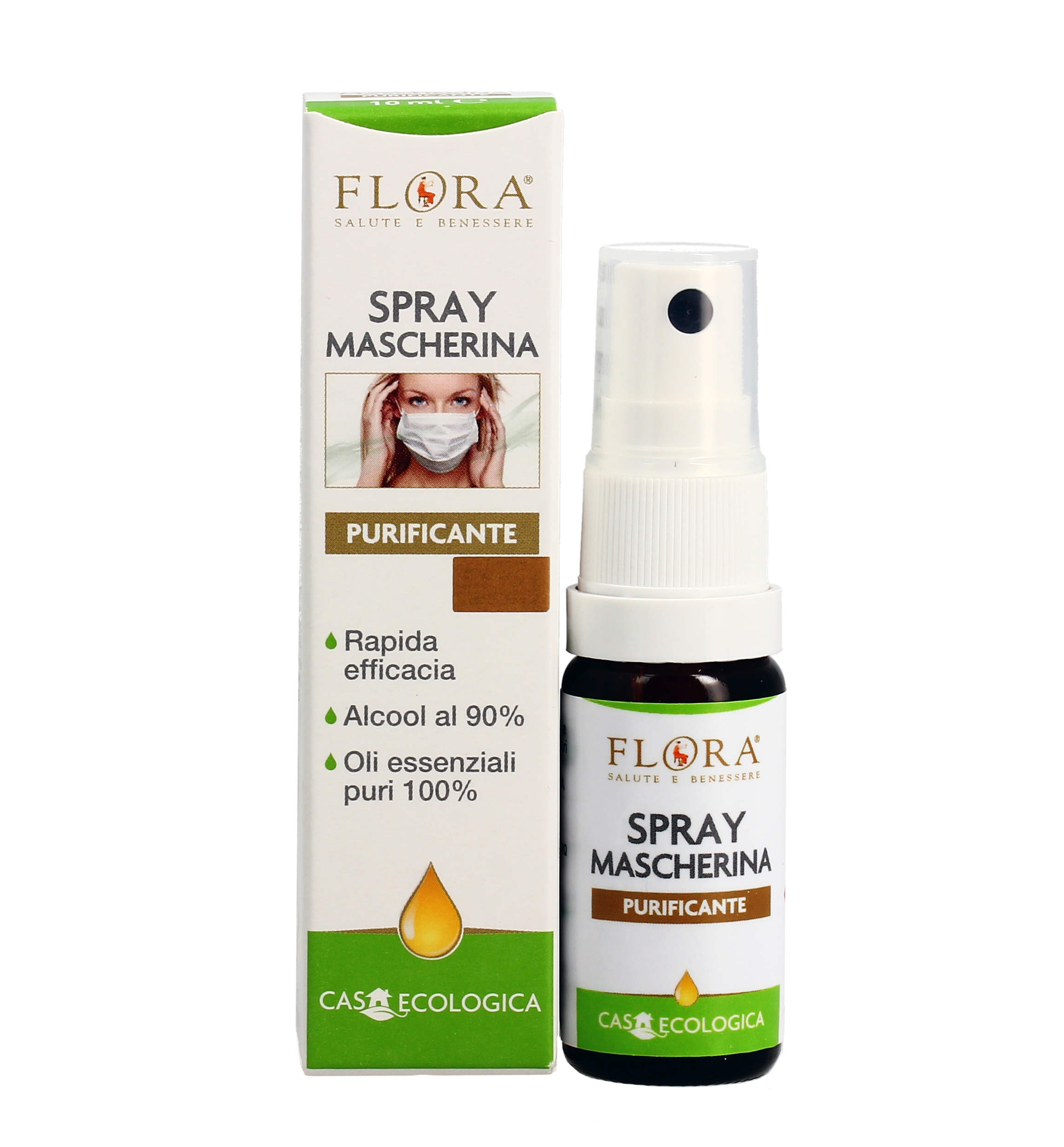 Spray Mascherina Purificante Con Oli Essenziali Flora