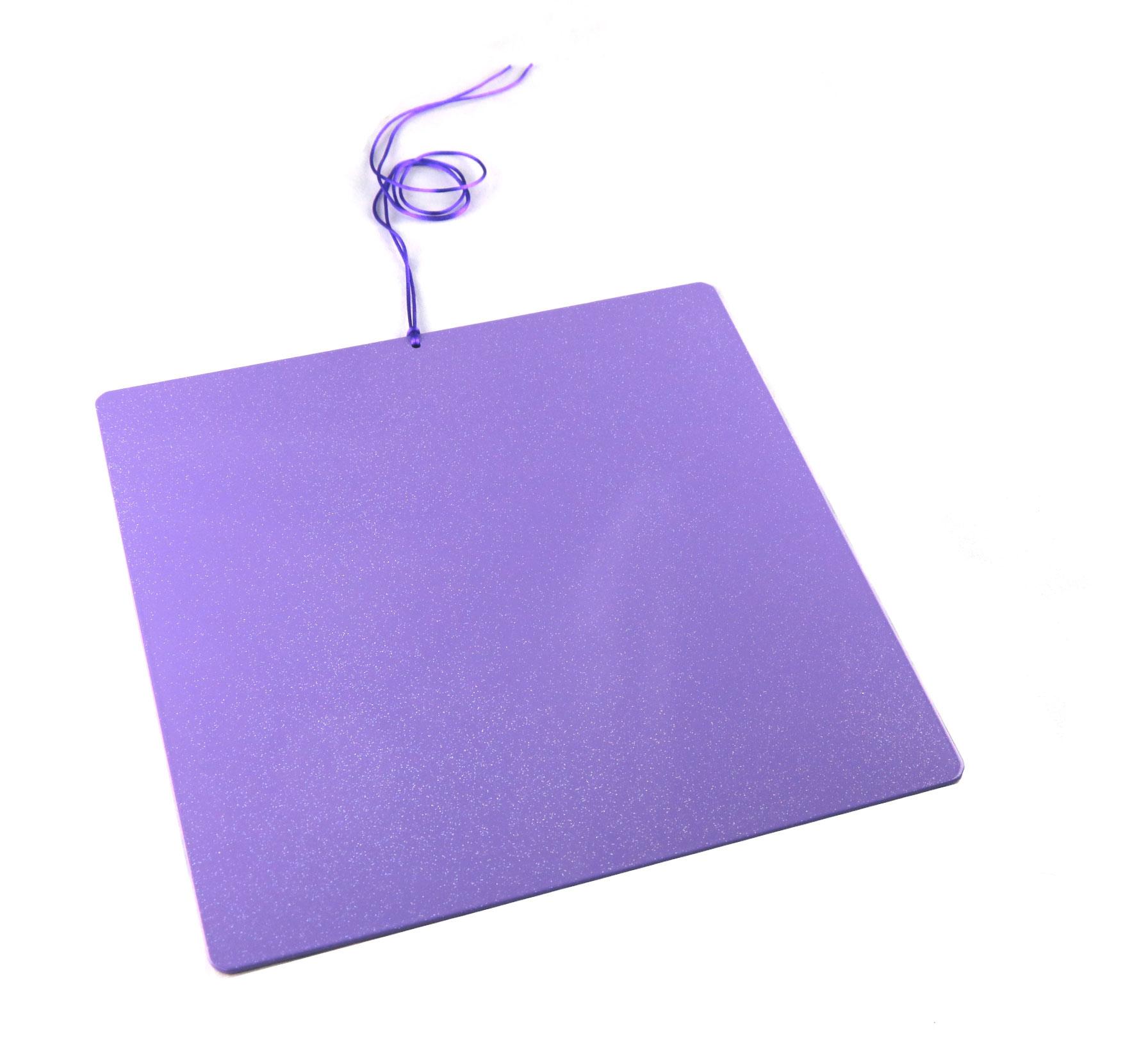 Piastre Di Tesla Funzionano piastra di tesla purpurea sunny - grande quadrata