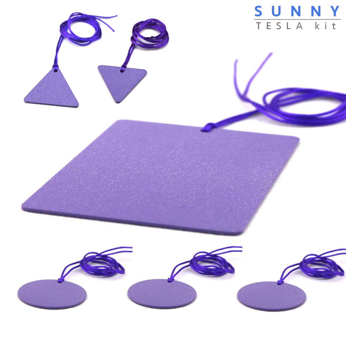 Piastre Di Tesla Funzionano sunny piastre di tesla purpuree - kit famiglia