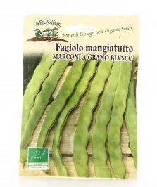 B963 Semi di Fagiolo Rampicante Marconia a Grano Bianco Bio