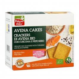 """Crackers di Avena Bio con Curcuma e Pepe Nero """"Avena Cakes"""""""