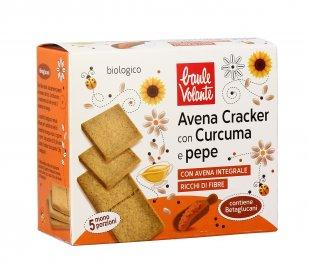 Cracker Avena con Curcuma e Pepe