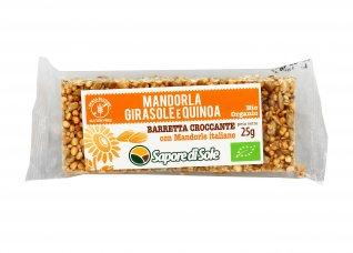 Barretta Croccante con Mandorla, Girasole e Quinoa Bio