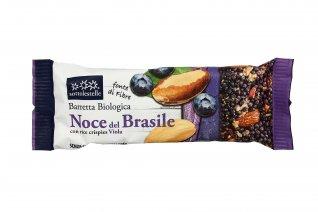 Barretta Noce del Brasile con Rice Crispies Viola
