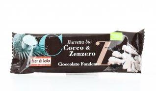 Barretta di Cioccolato Fondente con Cocco e Zenzero