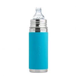 Biberon Termico con Tettarella 6+ Mesi (260 ml) Azzurro