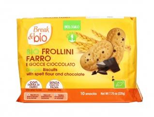 Frollini Bio al Farro con Gocce di Cioccolato