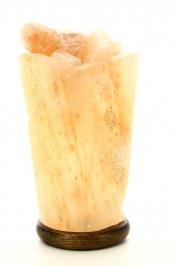 Lampada con Cristalli di Sale Himalayano - Vaso di Fuoco Spirale