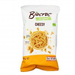 Snack Bio di Mais al Formaggio Senza Glutine - Biocroc Cheesy