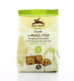 Biscotti di Mais e Riso con Gocce di Cioccolato - Senza Glutine