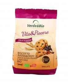 Biscotti Avena&Orzo - Gocce di Cioccolato e Nocciole