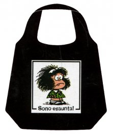 "Borsa Pieghevole Mafalda - ""Sono Esaurita"""