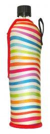 Bottiglia in Vetro con Custodia in Tessuto Arcobaleno