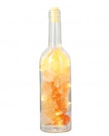 Bottiglia Luminosa di Sale Rosa dell'Himalaya