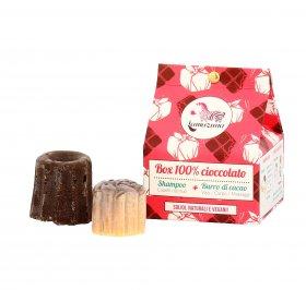 Shampoo Solido + Burro di Cacao - Box 100% Cioccolato