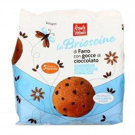 Le Brioscine di Farro con Gocce di Cioccolato - Mini Brioche Biologiche