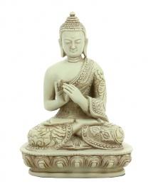 Statuetta Buddha Ruota del Dharma