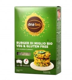 Preparato per Burger di Miglio con Spinaci e Quinoa