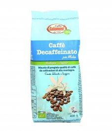 CAFFè DECAFFEINATO MACINATO PER MOKA Miscela biologica pregiata dal gusto delicato e leggero                                                              Caffè Salomoni