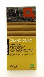 CANNELLONI DI SEMOLA DI GRANO DURO BIO - 250 GR 100% coltivato in Italia - Cottura 30 minuti di Montebello Girolomoni