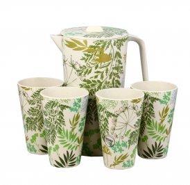 Caraffa Ecologica con 4 Bicchieri - Bambù Green