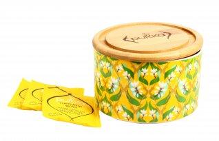 """Confezione in Ceramica """"Turmertic Gold"""" con Tisana"""