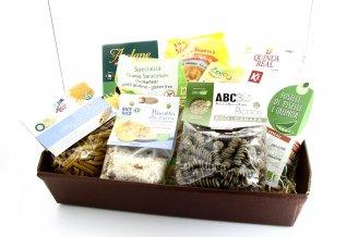 CESTO REGALO CON PASTA SENZA GLUTINE Idea regalo con tantissime paste biologiche e gluten free! di SN Creazioni