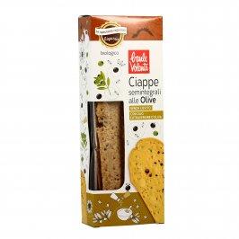 Ciappe Semintegrali alle Olive Senza Lievito - Prodotto da Forno