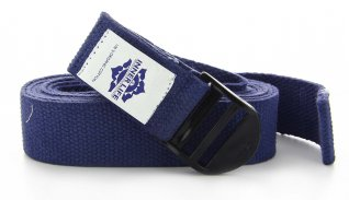 Cintura Yoga di Cotone Blu
