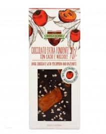 Cioccolato Extra Fondente 70% con Cachi e Nocciole