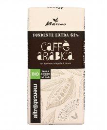 Cioccolato di Fondente Extra 61% con Caffè Arabica