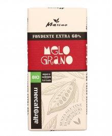 CIOCCOLATO FONDENTE EXTRA 60% CON MELOGRANO BIO Senza glutine e con ingredienti biologici di Altromercato