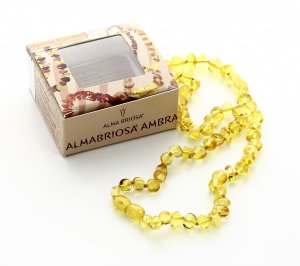 Collana Ambra Mamma - Rounded Honey