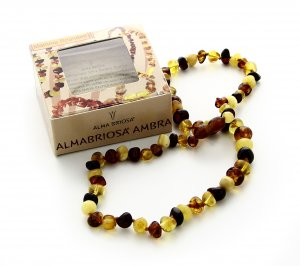 Collana Ambra Mamma - Rounded Multicolor