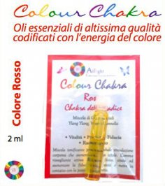 Colour Chakra Oil Rosso - Vitalità, Passione, Fiducia, Radicamento