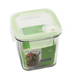 Contenitore Quadrato in Vetro per Alimenti - Air Square Microwave 920 ml.