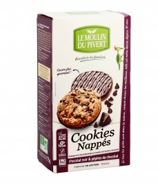 Cookies con Pepite di Cioccolato Ricoperti di Cioccolato Fondente